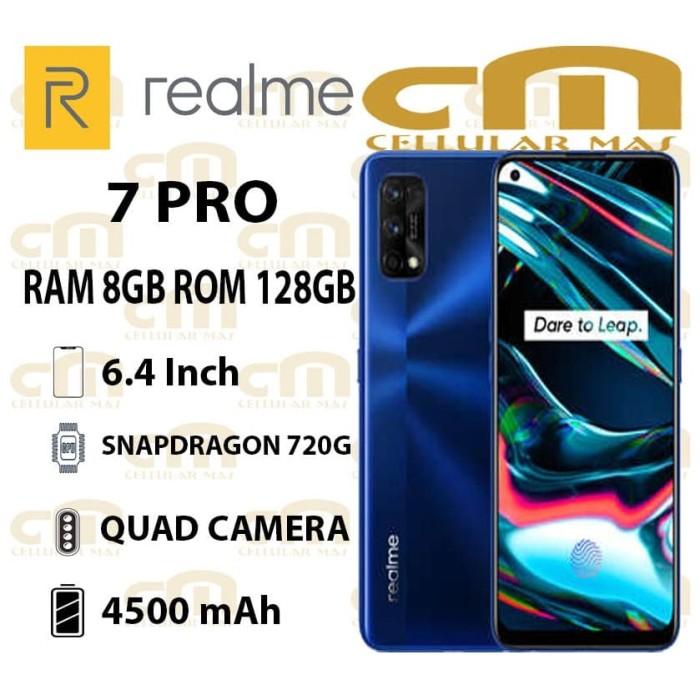 Foto Produk Realme 7 Pro 8/128 RAM 8GB ROM 128GB GARANSI RESMI REALME - Mirror Silver dari Cellular Mas