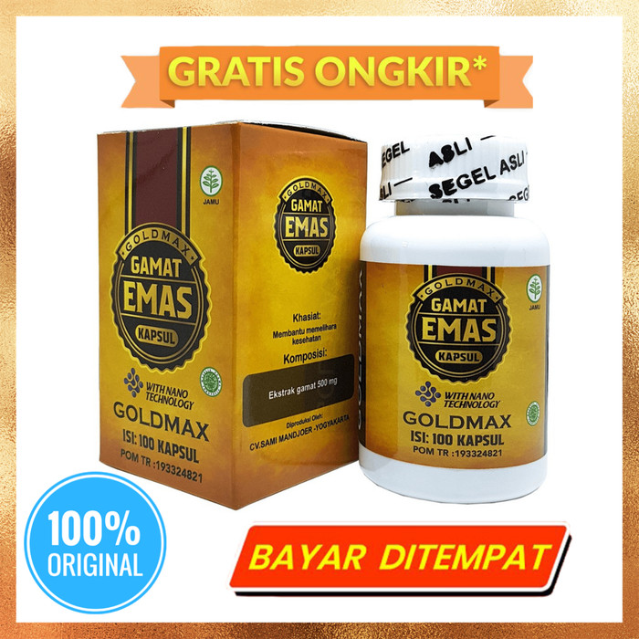 Foto Produk Gamat Emas Kapsul Goldmax Original dari AKIFA HERBAL