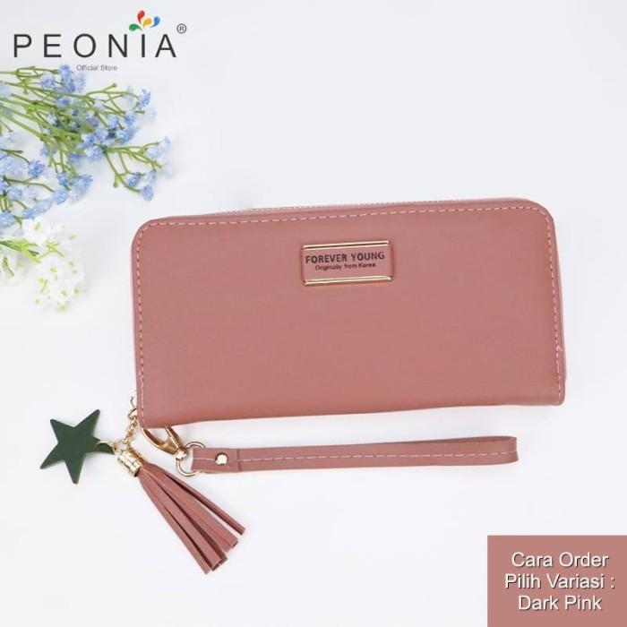 Foto Produk Peonia- Dompet Wanita Panjang Hp Import - Korea Wallet - Star Young LG - Black dari Peonia Official Store