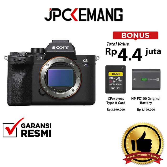 Foto Produk Sony A7SIII A7S III Sony A7S Mark III Sony A7S III Body GARANSI RESMI - Body Only dari JPCKemang