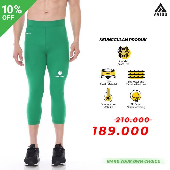 Jual Baselayer Tiento Celana Olahraga Pria Legging Leging 3 4 Pants Green Hijau M Kota Bandung Avido Store Tokopedia