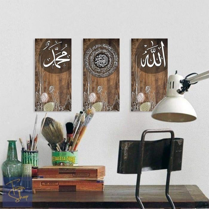 Jual 3 In 1 Walldecor Kaligrafi Modern Hiasan Dinding Ruang Tamu Kota Yogyakarta Tomir Shop Tokopedia