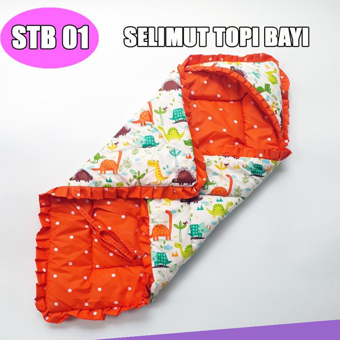Foto Produk Selimut Topi Bayi / Selimut Topi Hoodie Karakter - SELIMUT 01 dari pondok aren shop
