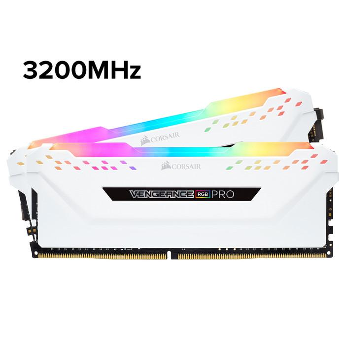Foto Produk VENGEANCE RGB PRO 32GB (2 x16GB) DDR4 3200MHz C16 CMW32GX4M2C3200C16 - Putih dari Corsair Official Store