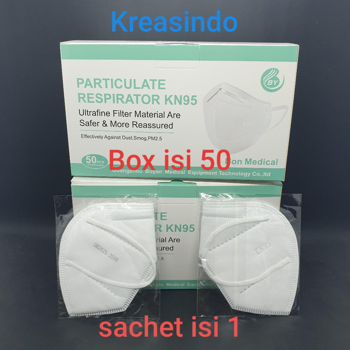 Foto Produk Masker KN95 5ply Protecply Face Mask / Protective Mask - Merk BY dari Kreasindo Online
