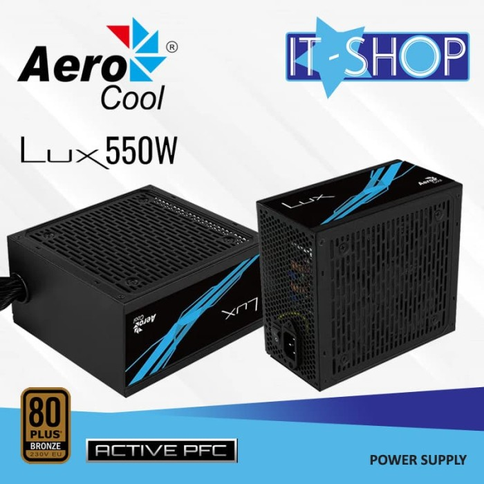 Foto Produk AeroCool Power Supply LUX 550W Bronze dari IT-SHOP-ONLINE