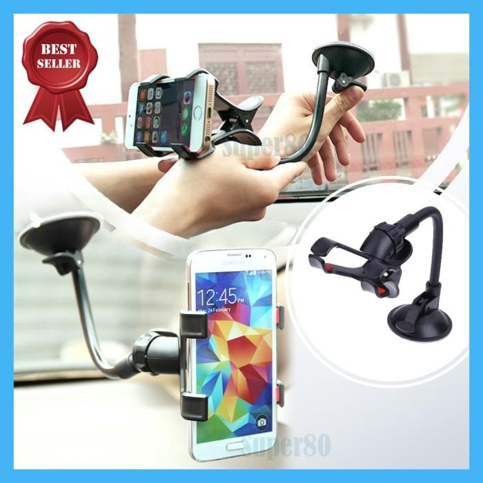 Foto Produk Universal Phone Holder GPS Mount Bracket Tempat HP Mobil Car Handphone dari Super80