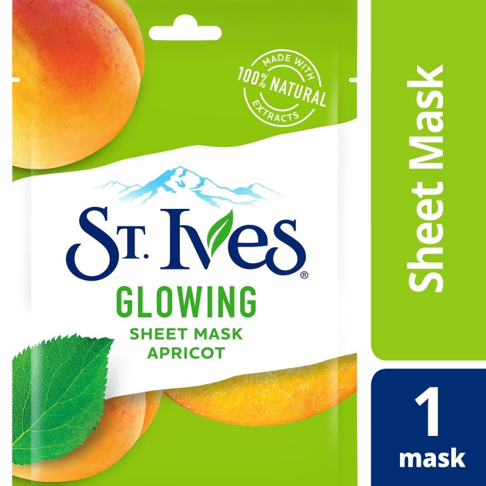 Foto Produk St.Ives Glowing Sheet Mask 230Ml dari Unilever Official Store