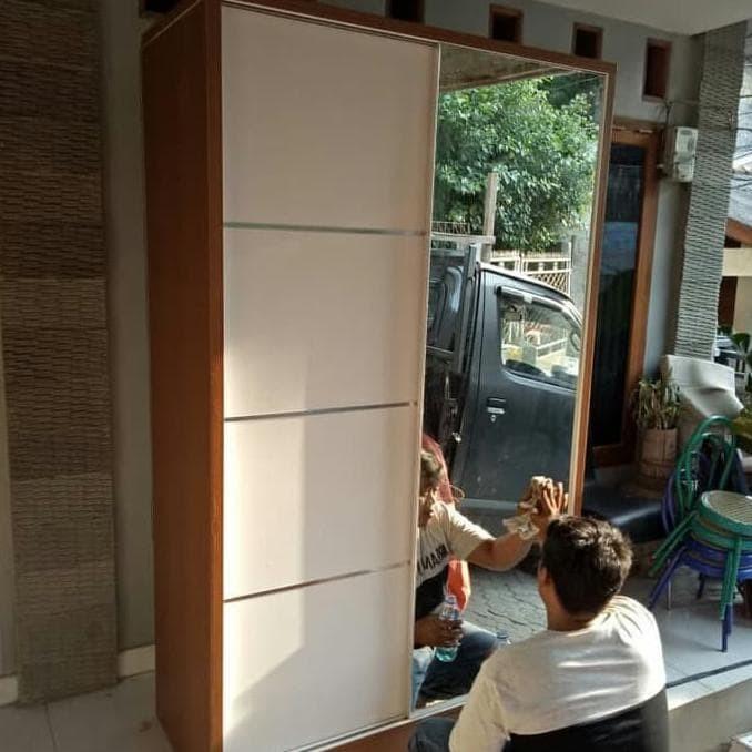 Jual Diskon Lemari Pakaian Sliding Murah Heinseik Furniture Promo Awal Jakarta Selatan Wikastar Tokopedia