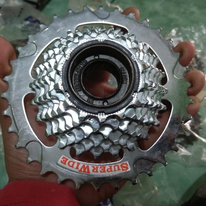 Foto Produk sprocket 7 speed megarange chrom enzo made in taiwan 14t-34t dari hobby toys 57