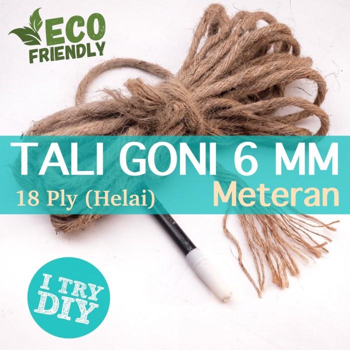 Foto Produk Tali Goni 18ply - Tali Goni 5-6mm - Tali Goni Meteran dari Karung Goni Jakarta