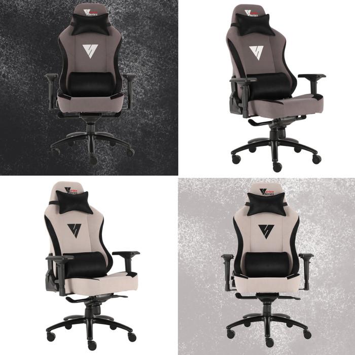 """Foto Produk Vortex """"Premium"""" Series Gaming Chair / Kursi Gaming Komputer - Gray Black dari VortexSeries"""