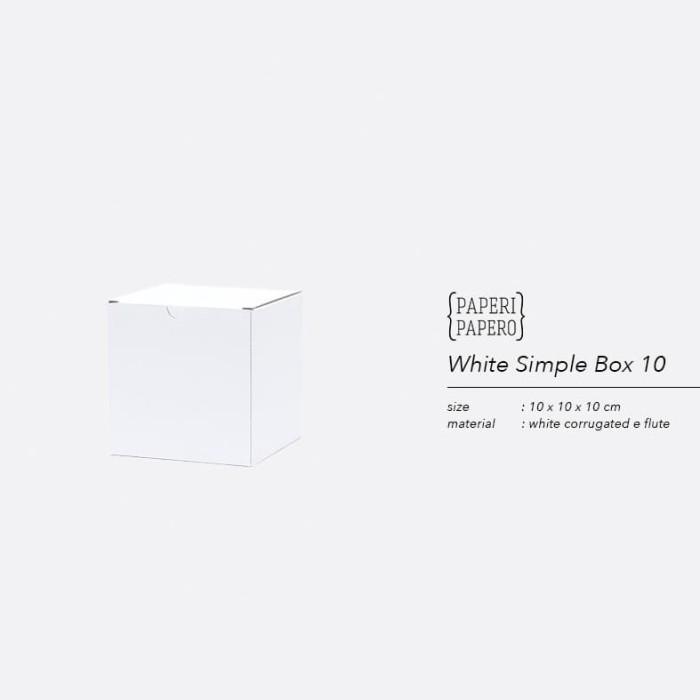 Foto Produk White Simple Square Box - Kartus Mug / Gelas / Hampers (10x10x10) dari {Paperi Papero}
