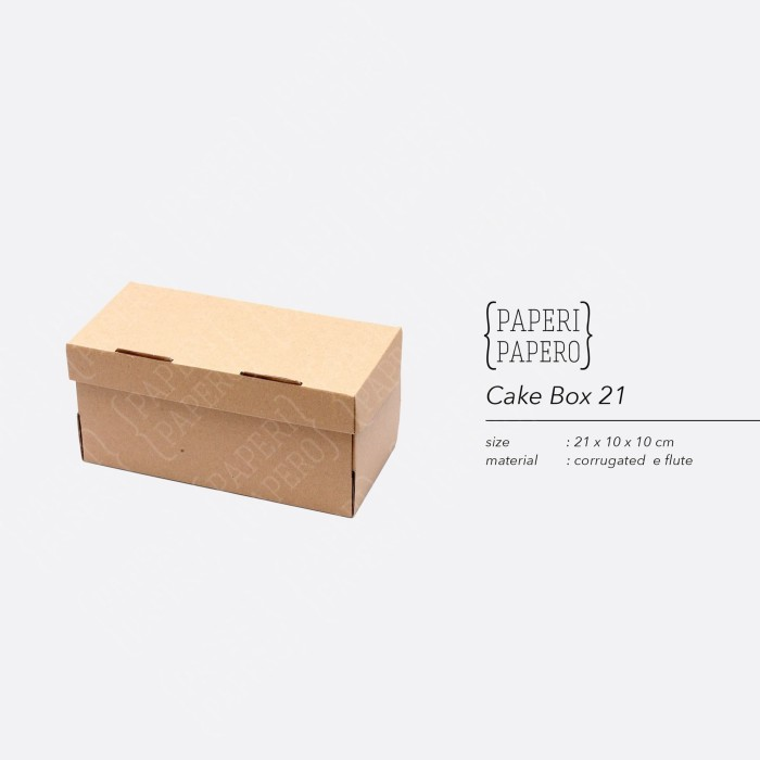 Foto Produk Cake Box - Kotak / Dus / Boks Kue Brownies (21 x 10 x 10 cm) dari {Paperi Papero}