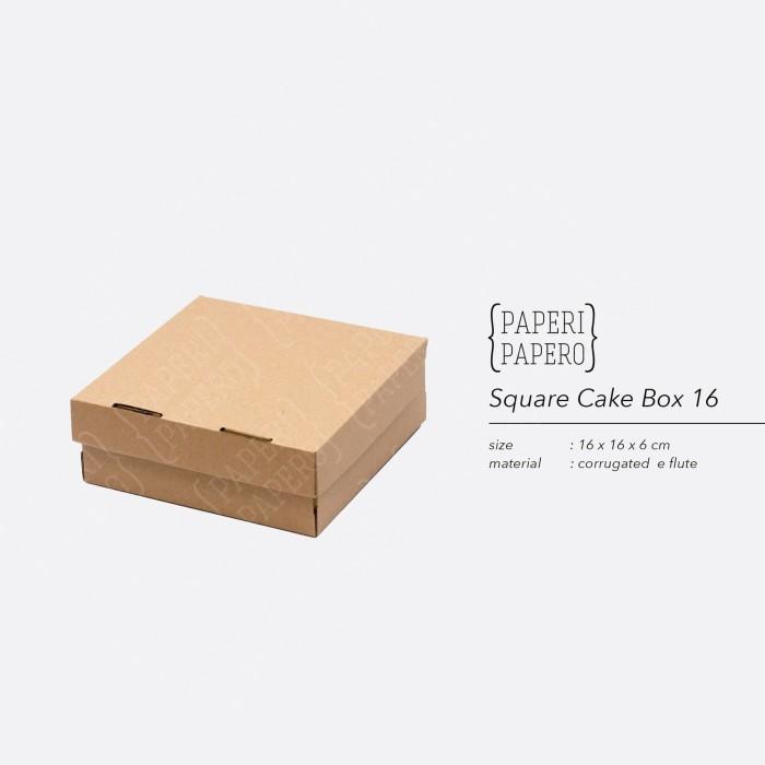Foto Produk Cake Box - Kotak / Dus / Boks Kue Bolu (16 x 16 x 6 cm ) dari {Paperi Papero}