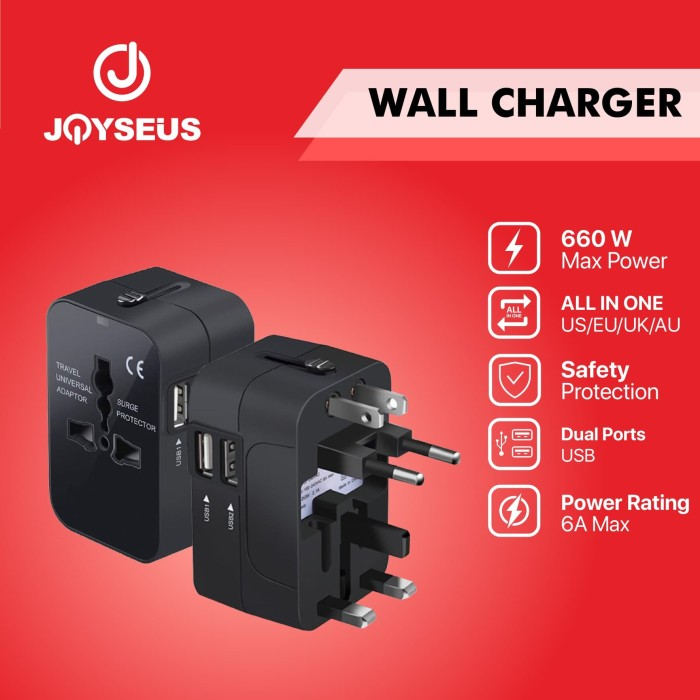 Foto Produk JOYSEUS A1 International Universal All in One Charger - CL0001 dari Joyseus Official Store