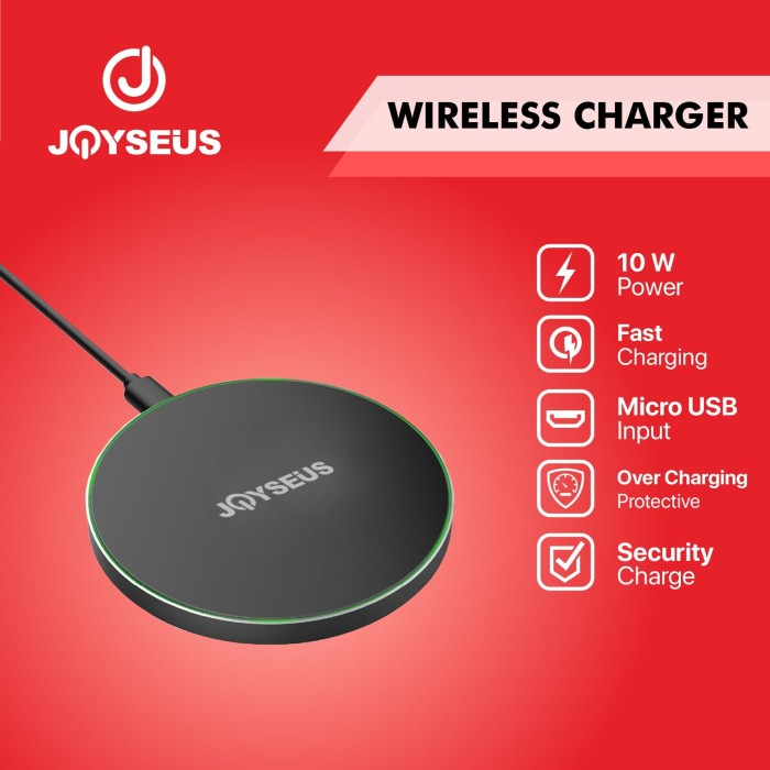 Foto Produk JOYSEUS Qi Wireless Charger Station Quick Charge - WC0002 dari Joyseus Official Store