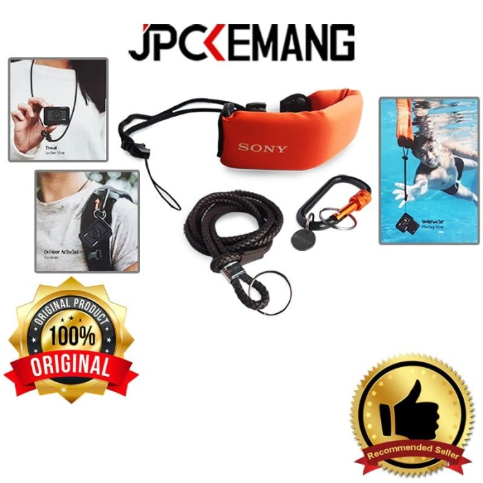 Foto Produk Sony Leather Strap+Floating Strap+Carabiner for Action Cam Travel Kit dari JPCKemang