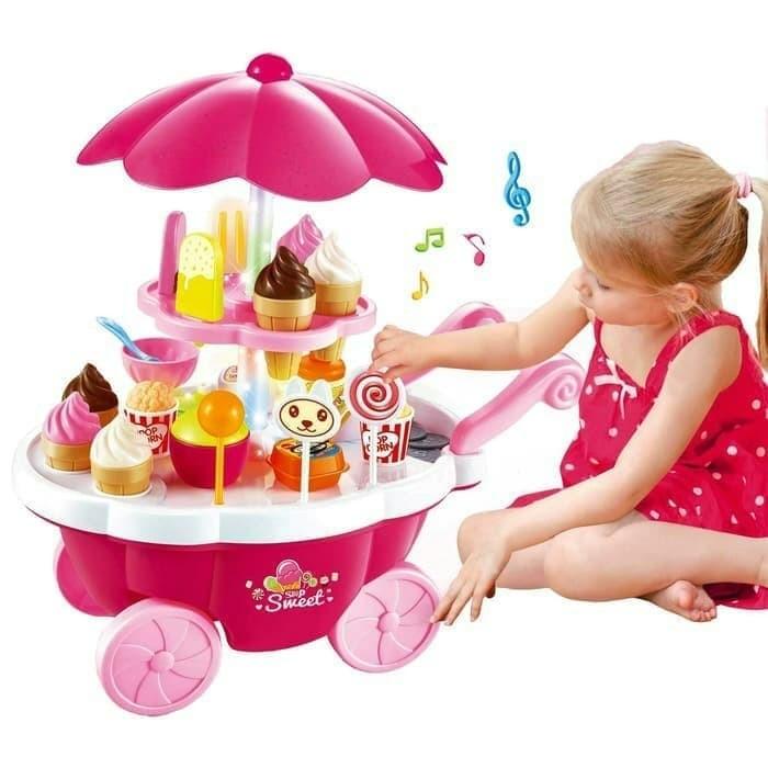 Foto Produk Mainan Ice Cream Shop Gerobak 668-25 Sweet Shop dari ANEKA MAINAN ONLINE