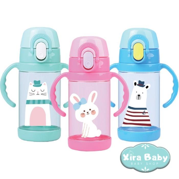 Foto Produk Botol Minum Anak BABY SAFE Tritan Straw Cup 350 ml Botol Minum Bayi - TRI01 Hijau dari Xiraqiu Shop