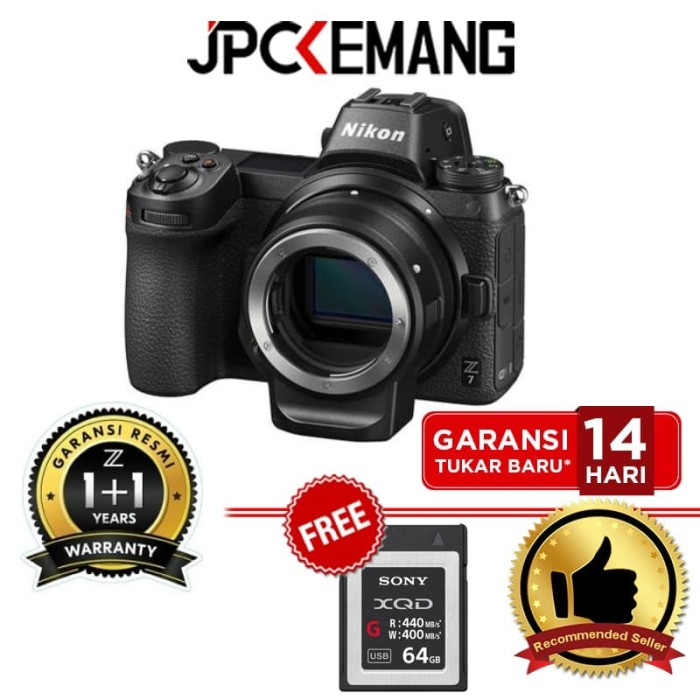 Foto Produk Nikon Z7 Body with FTZ Mount Adapter Kit GARANSI RESMI dari JPCKemang