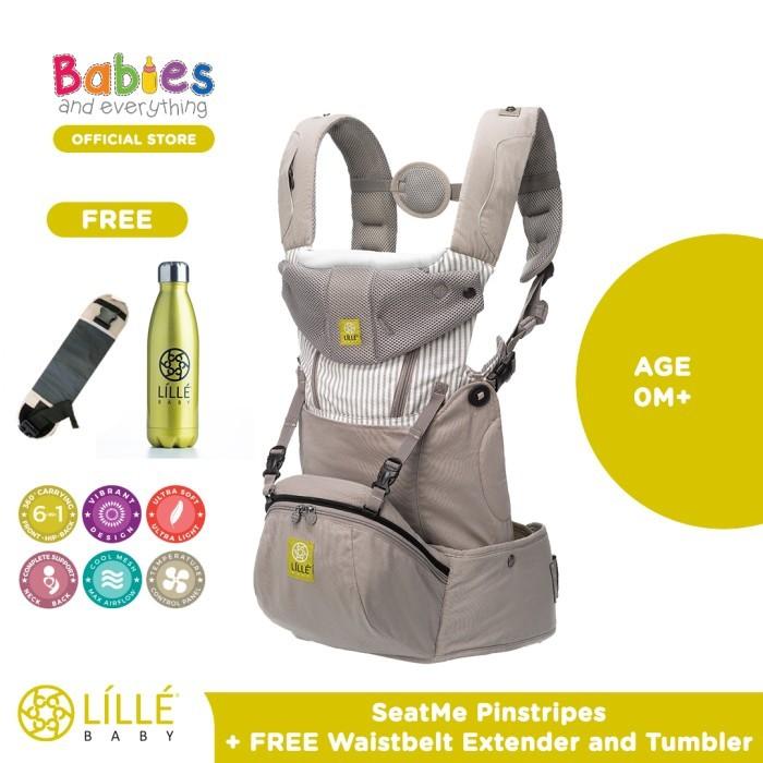 Foto Produk Lillebaby SeatMe™ Hip Seat Pinstripe Free Waisbelt & Tumbler dari Babies & Everything