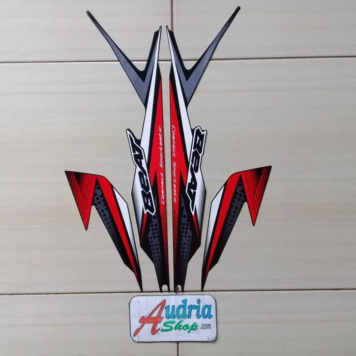 Jual Sticker Striping Motor Honda Beat Cbs Fi 2020 Full Hitam Merah Kab Bogor Audria Collection Tokopedia