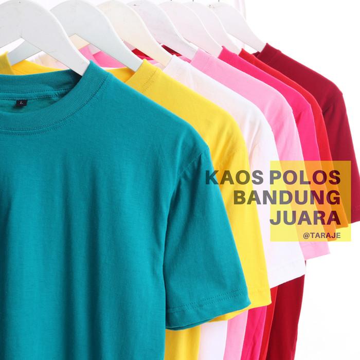 Foto Produk kaos polos oblong pendek soft cotton combed 30s dari TARAJE
