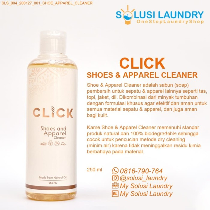 Jual Pembersih Sepatu Click Shoes And Apparel Cleaner Jakarta Pusat My Solusi Laundry Tokopedia