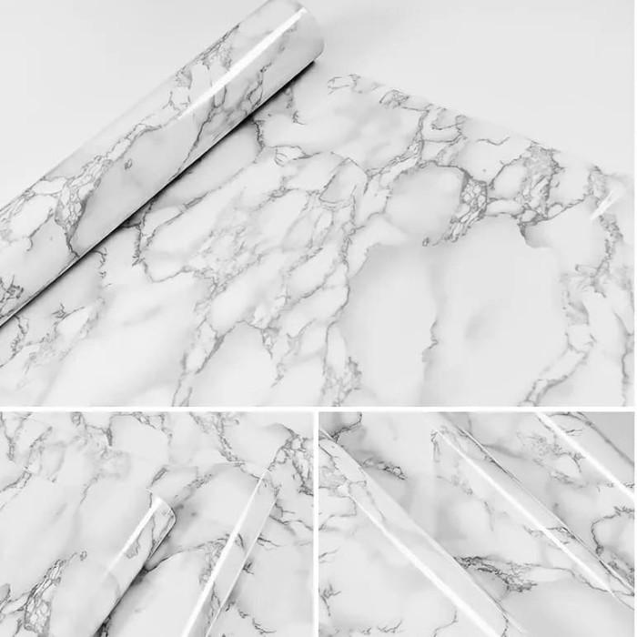 Foto Produk Wallpaper motif marmer 45 cm x 10 mtr || Wallpaper dinding dari dedengkot wallpaper