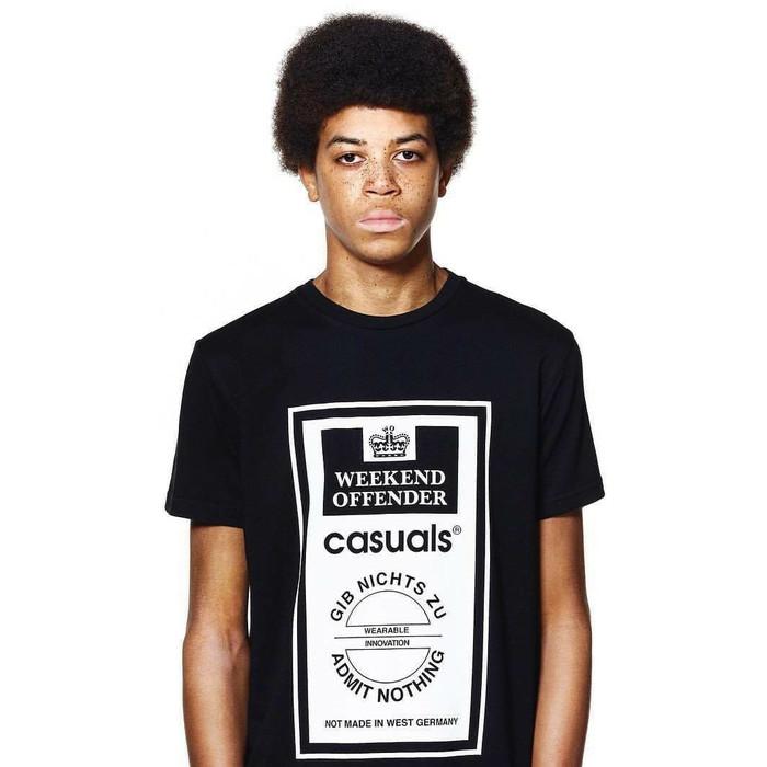 Foto Produk Kaos Tshirt WEEKEND OFFENDER Black Hitam Super dari EFOURS SHOP