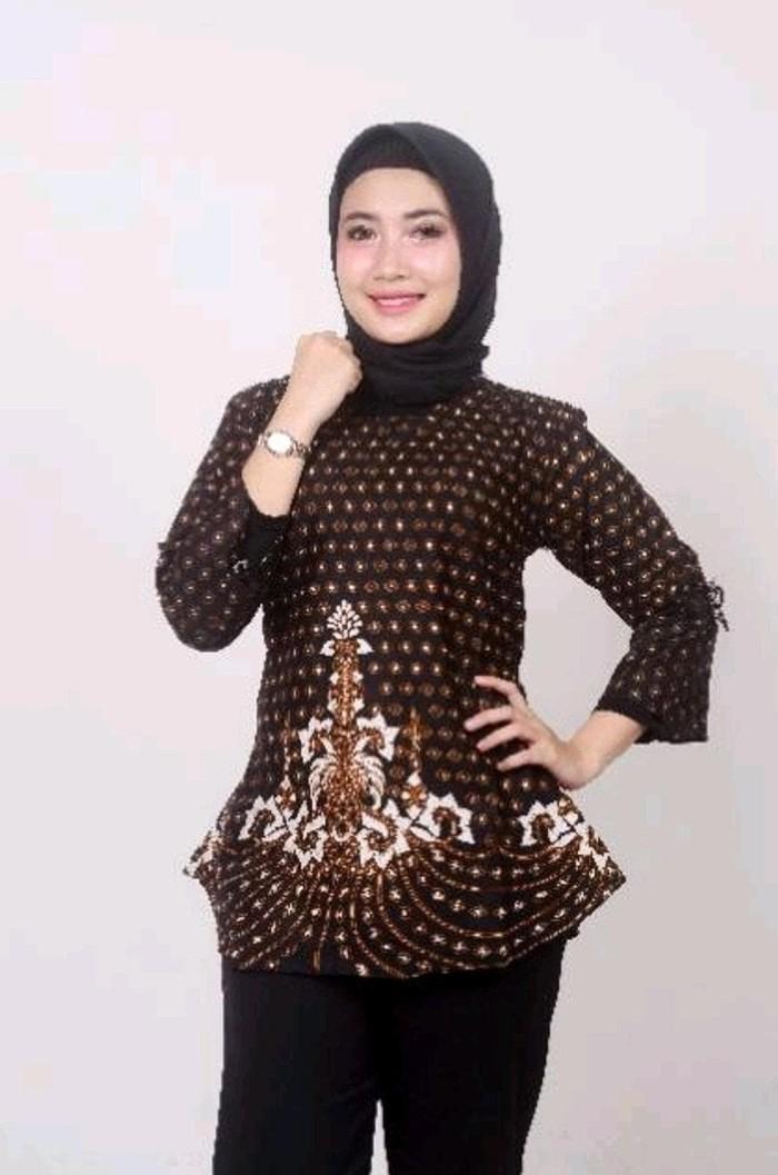 Jual Baju Batik Dewasa Atasan Wanita Muslim Tunik Fashion Formal Travelling Jakarta Barat Bela Olstore Tokopedia