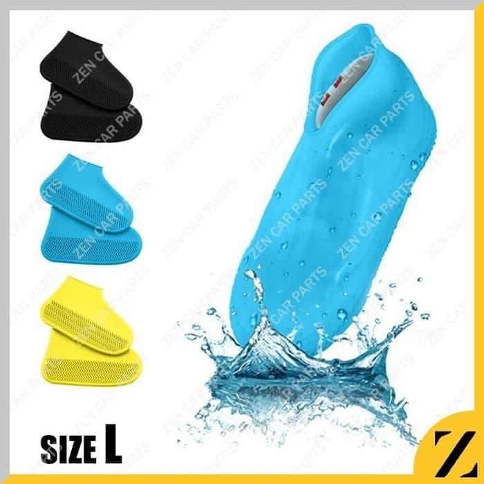 Foto Produk Cover Sepatu Karet L Anti Air sarung jas Waterproof Shoes silikon dari chaaviio modifikasi