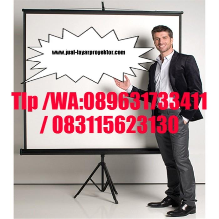 Jual Screen Projector Tripod 178cm Layar Proyektor Pry1 Kota Tangerang Bird Dog Tokopedia