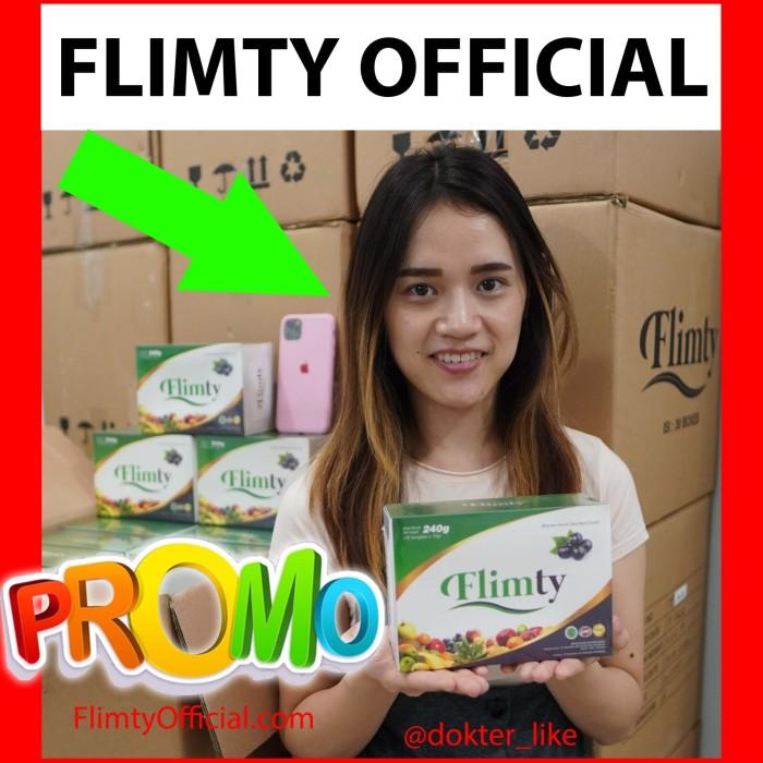 Foto Produk Flimty 16 Sachet BPOM Halal MUI Pelangsing Herbal Obat Langsing Murah dari Promo Gojek Suplemen