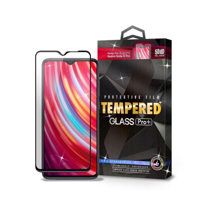 Foto Produk Tempered Glass Xiaomi Redmi Note 8 Pro Full Cover Black - Glass Pro dari Glass Pro Indonesia