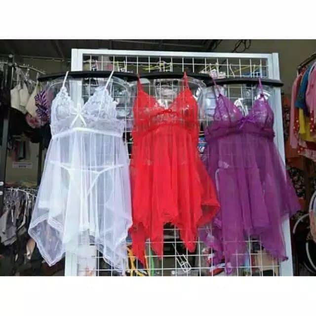 Foto Produk SEXY LINGERIA BABYDOLL /DRESS SLEEPWEAR G-STRING / BAJU TIDUR SEXY dari Kosmetik Original No KW