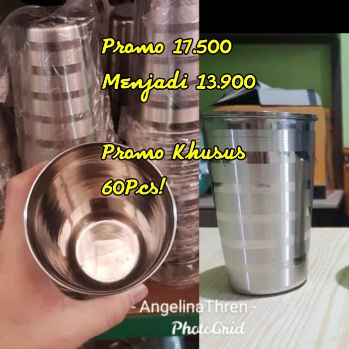 Foto Produk gelas stainless steel rose tebal 9cm dari AngelinaThren