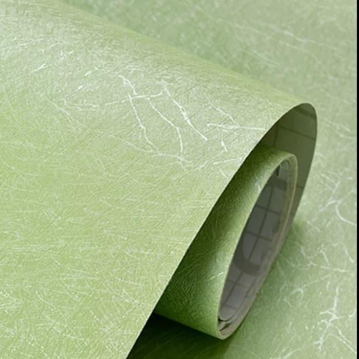 Foto Produk wallpaper polos hijau tekstur serat ukuran 45cm x 10m dari dedengkot wallpaper
