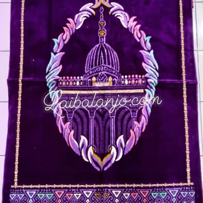 Jual Sajada Sejada Turkeyy Al Shafedah Ungu Tua Motif Masjid