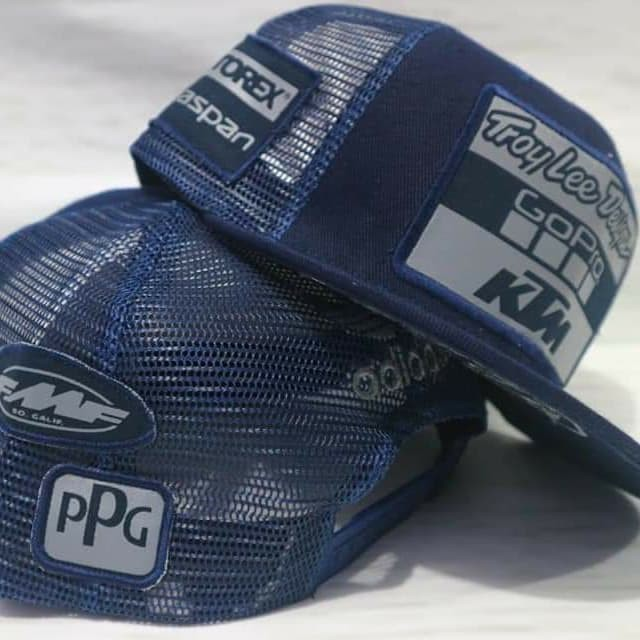 / Tu / Navy Blue/  Adidas Team Go Pro KTM Troy Lee Designs Bobble Hat/