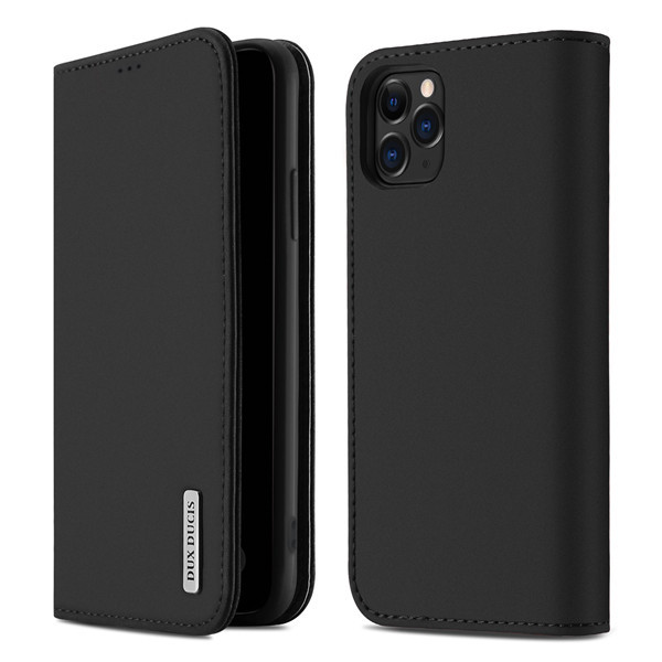 Foto Produk Case Iphone 11 Pro Max - DD Wallet Flip Case Genuine Premium Leather - Hitam dari Gojali
