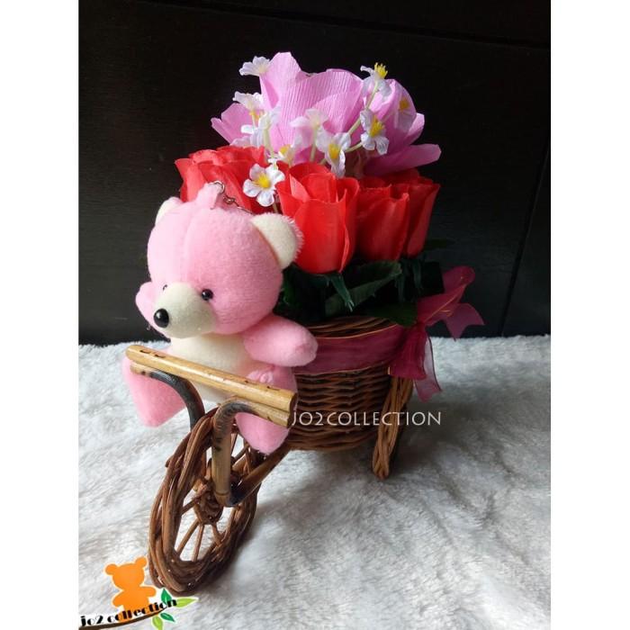 Jual Bouquet Boneka Bunga Coklat Dalam Rangkaian Sepeda Kota Bandung Jojo Collection Tokopedia