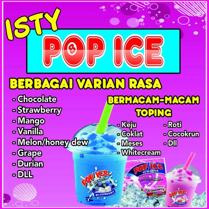 Foto Baliho Pop Ice - contoh desain spanduk