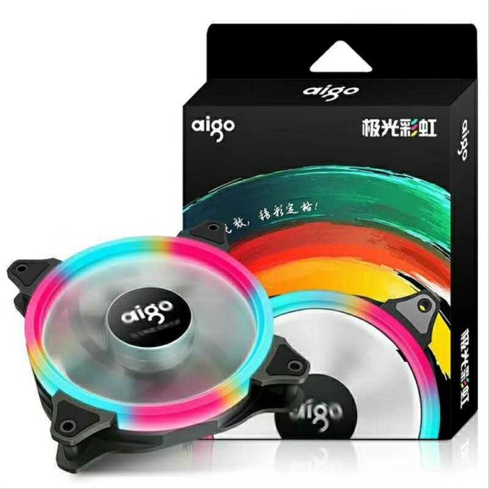 Foto Produk HOT - AIGO Rainbow LED 12CM Silent Case Fan - FAN CASING 1500Rpm dari Santi Dwi Indahsaria
