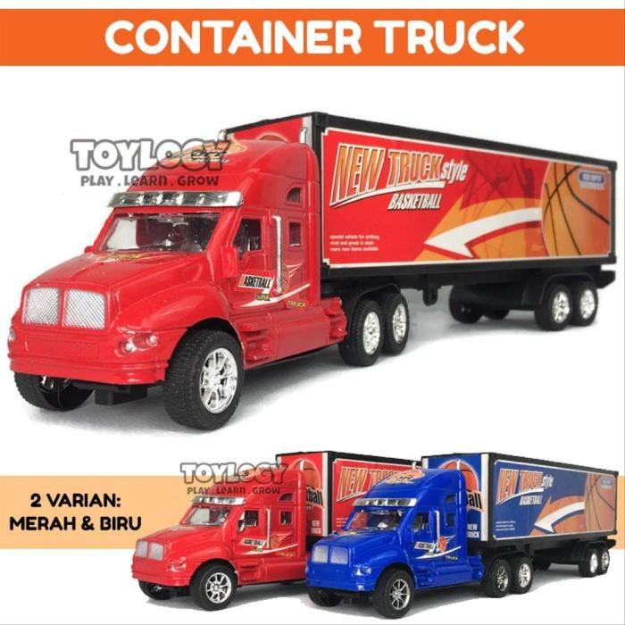 Foto Produk Mainan Anak Mobil Truk Super Container Trailer Semi Truck Basketbal dari mirandashops