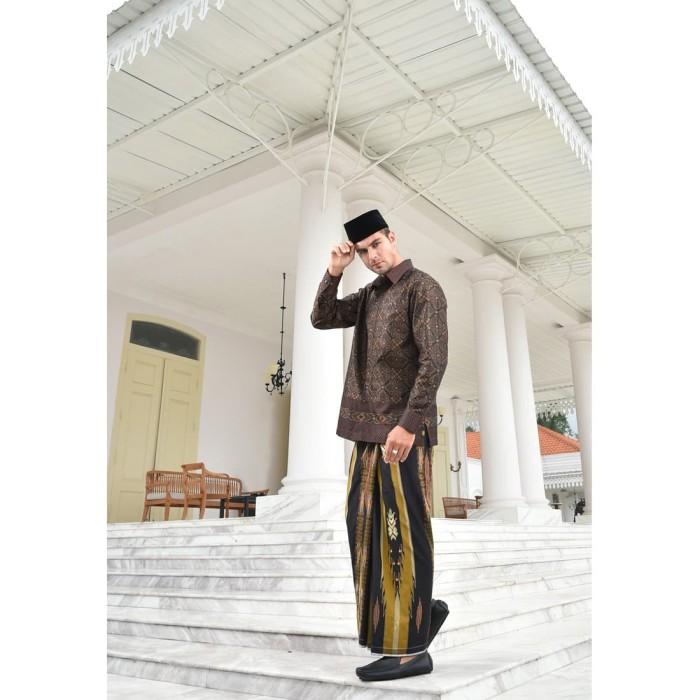 Foto Produk Kain Batik BHS Motif Jacquard Coklat dari Sarung BHS Official