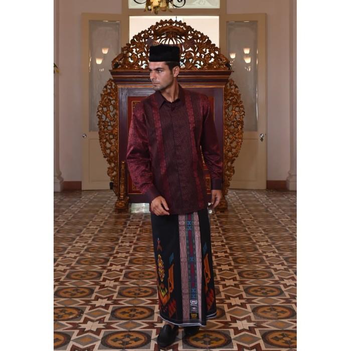 Foto Produk Kain Batik BHS Motif Jacquard Merah dari Sarung BHS Official