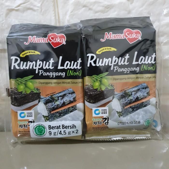 Foto Produk Mamasuka Rumput Laut Panggang Nori Original isi 2 pcs dari Librata Gadget