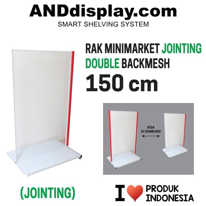 Foto Produk RAK MINIMARKET 150 CM ADJOINT DOUBLE BACKMESH RAK GONDOLA ANDDISPLAY dari SINAR KARYA RAKINDO